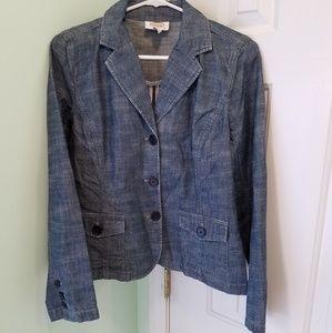 Women's size 8 Talbots denim blazer